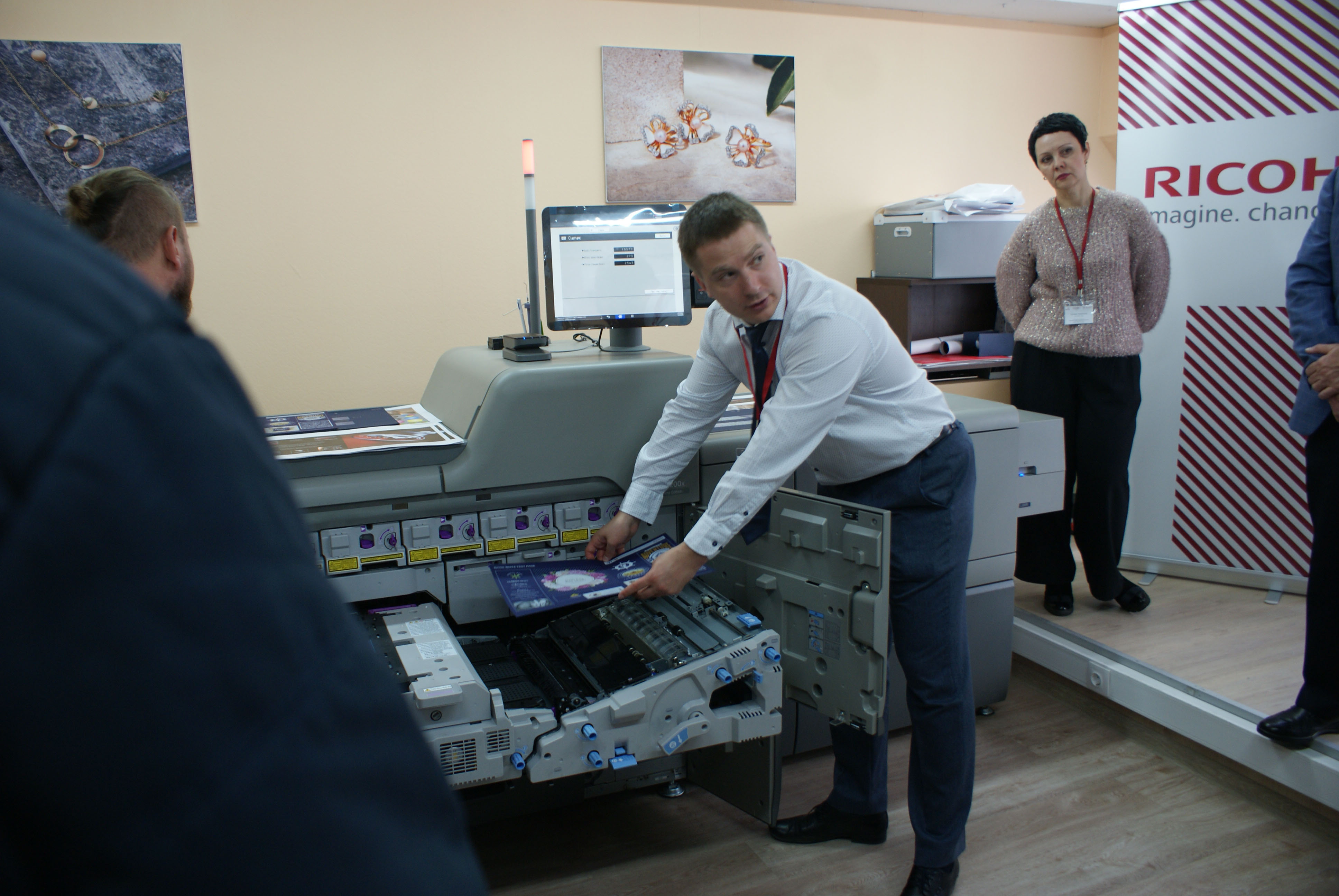 """презентация нашей новой печатной ЦПМ Ricoh Pro C7200x в РПК """"Альтпос"""""""